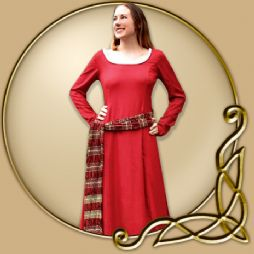 Costume - Red Dress with Red and Gold Sash